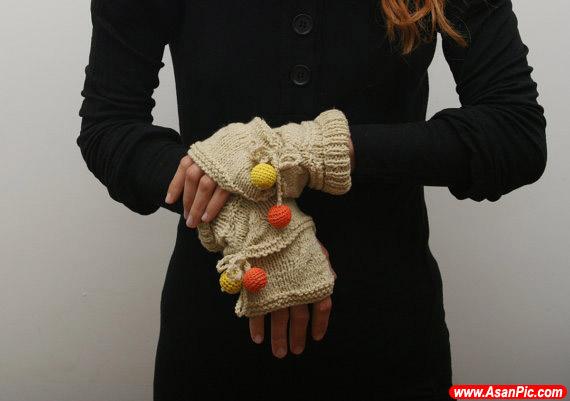 مدل دستکش قلاب بافی و بافتنی زنانه - قسمت سوم