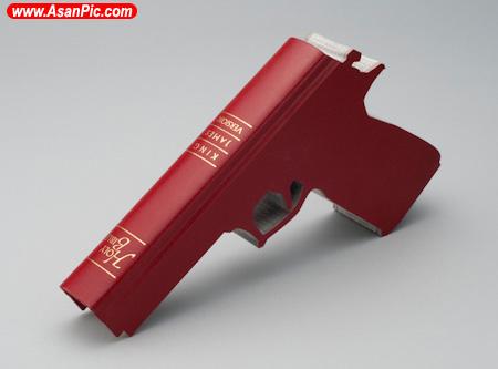 تصاویری از اسلحه های ساخته شده با کتاب