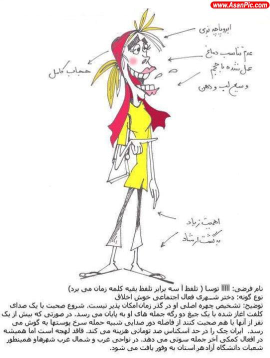 كاريكاتور انواع زن در ايران