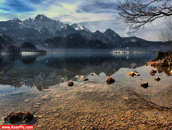 تصاویر بازتاب زیبا در آب
