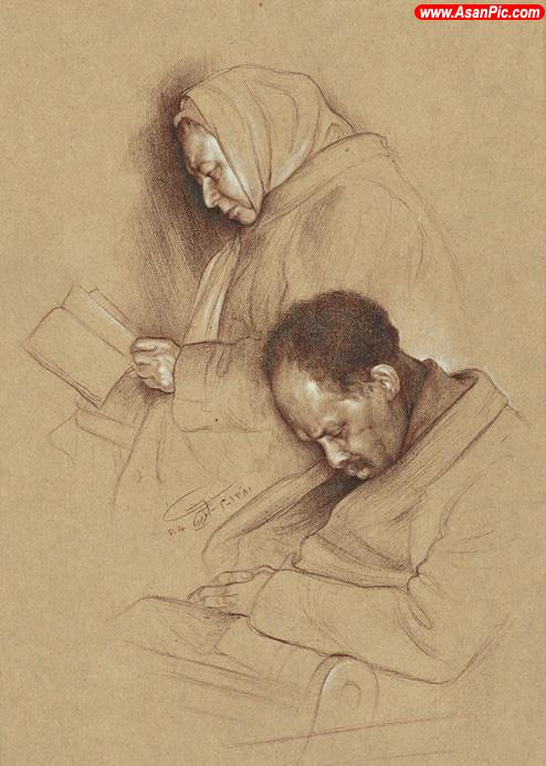 نقاشی های زیبا اثر استاد کاتوزیان - قسمت چهارم