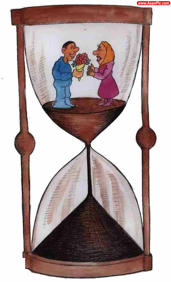 كاريكاتورهایی با موضوع ازدواج موقت