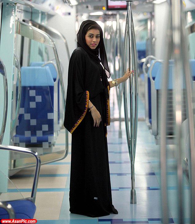 مريم الصفرا 28 ساله، تنها زن راننده مترو در دبی