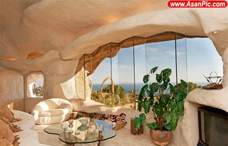 خانه ای الهام گرفته از غار