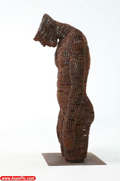 تصاویری از آثار هنری ساخته شده با زنجیر دوچرخه