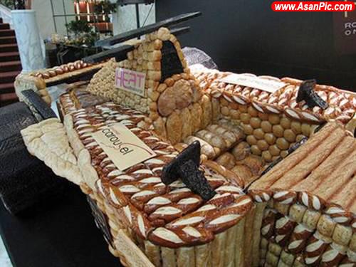 تصاویری جالب از هنرنمایی با نان