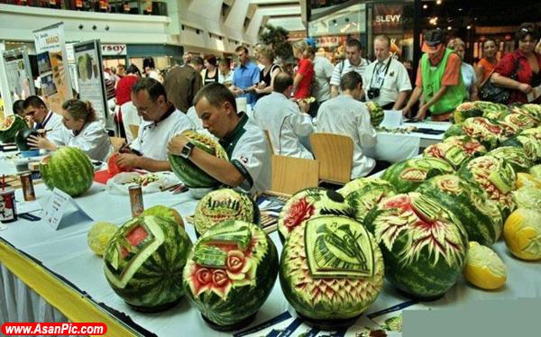 تصاویری از طراحی روی هندوانه