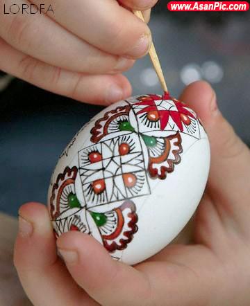 تخم مرغ های تزئین شده ی زيبا