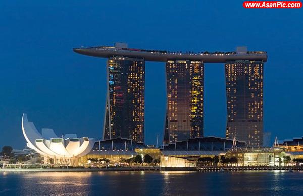 بزرگترین استخر جهان در مرتفع ترین نقطه سنگاپور