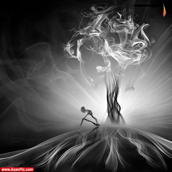 تصاویری از هنرنمایی با دود