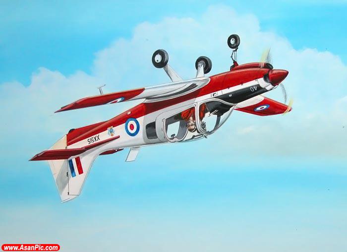نقاشی هایی حیرت انگیز از مانورهای هوایی - قسمت دوم
