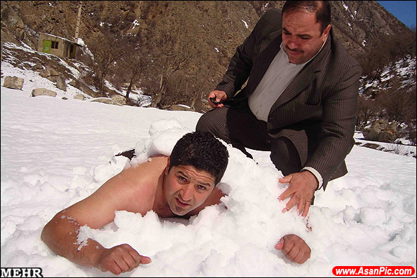مرد یخی در کلاردشت