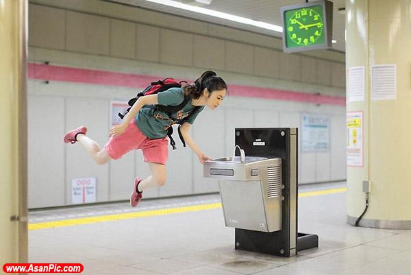 عکس های دختری که با پرواز به هر سو می رود