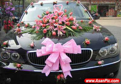 تصاویر تزئین ماشین عروس درسال 2012