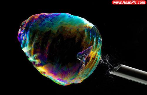 عکس های دیدنی از لحظات ترکیدن حباب صابون