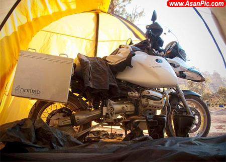 تصاويری از چادر برای موتور سيكلت سواران