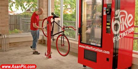 تصاویری از تعمیرگاه دوچرخه