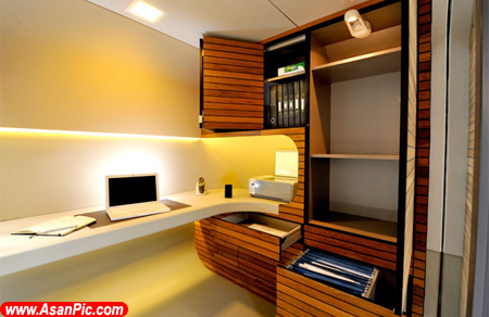 تصاويری از اتاقک مدرن برای افرادی که در خانه کار می کنند