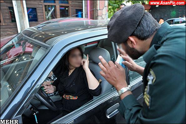 برخورد با رانندگان بد حجاب و سگ گردانی در خیابانهای تهران