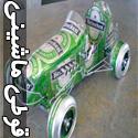 تصاویری از ساخت ماشین با قوطی نوشابه