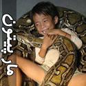 مار پیتون حیوان خانگی یک پسر بچه کامبوجی!