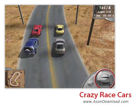 دانلود Crazy Race Cars - بازی هیجان انگیز ماشین سواری