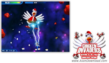 دانلود Chicken Invaders v3 Christmas Edition - بازی مرغ های مهاجم نسخه کریسمس