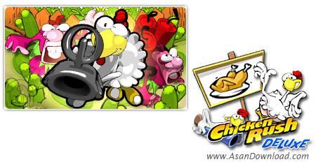 دانلود Chicken Rush Deluxe v1.5.3 - بازی حمله جوجه مرغ ها