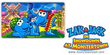 دانلود Zak & Jack in Showdown at Monstertown - بازی زاک و جک در دفاع از دهکده ی مونسترتون