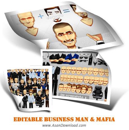 دانلود تصاویر قابل ویرایش مردان تجاری و مافیا-Editable Business Man