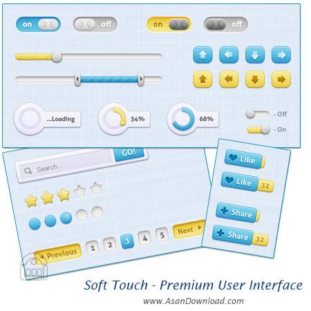 مجموعه رابط کاربری منحصر به فرد برای وب - Soft Touch - Premium User Interface