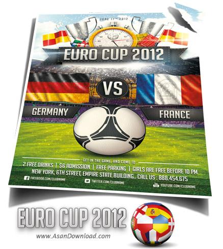 دانلود پوستر زیبای یورو 2012 - Euro Soccer 2012 flyer