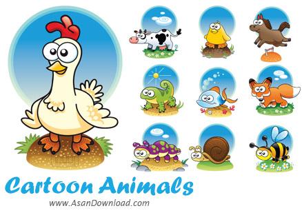 دانلود وکتورهای زیبا از حیوانات کارتونی - Cartoon Animals