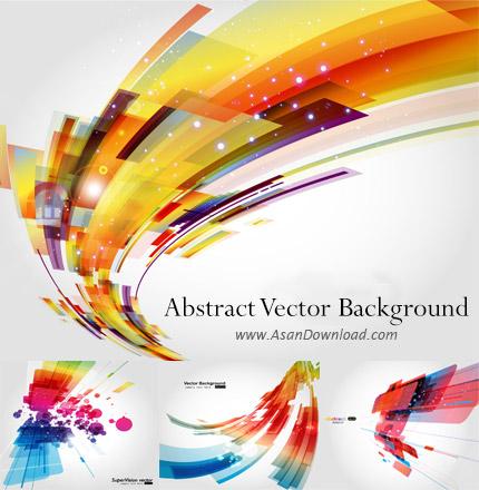 دانلود مجموعه پس زمینه های وکتور انتزاعی-Abstract Background Vector