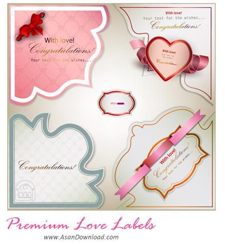 دانلود برچسب های وکتور عاشقانه - Premium Love Labels