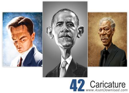 دانلود کاریکاتور شخصیت های معروف - Caricature 42