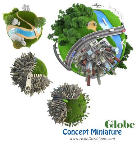 دانلود تصاویری از مفهوم جهان مینیاتوری - Concept Miniature Globe