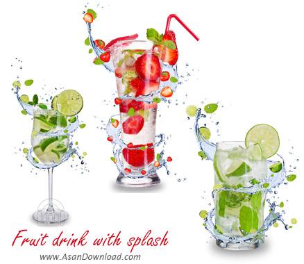 دانلود تصاویر نوشیدنی میوه ای - Fruit Drink With Splash