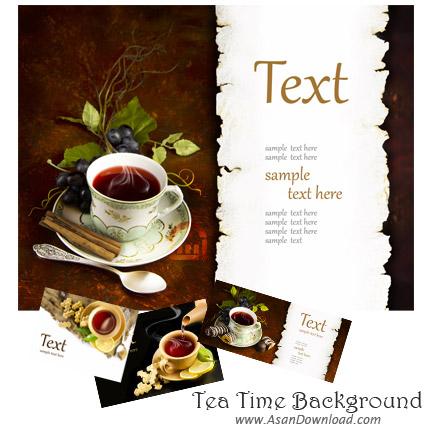 تصاویر بسیار زیبا با موضوع زمان نوشیدن چای Tea Time Background