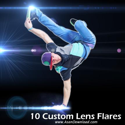 مجموعه 10 شراره لنز سفارشی - 10 Custom Lens Flares