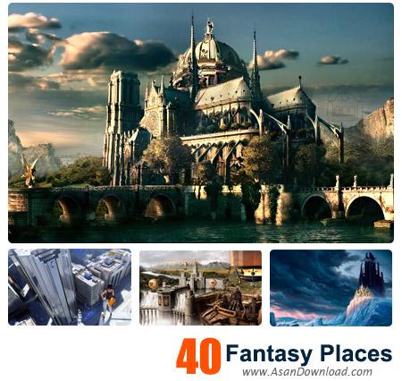 دانلود والپیپر با موضوع عکس های فانتزی سه بعدی اماکن - Fantasy Places 3D Wallpapers