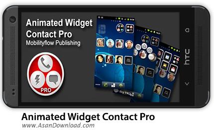 دانلود Animated Widget Contact Pro v2.0.1 - نرم افزار موبایل ویجت متحرک مخاطبین