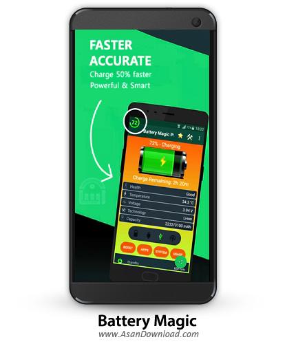 دانلود Battery Magic Pro v1.0.21 - نرم افزار بهینه سازی و مانیتورینگ باتری