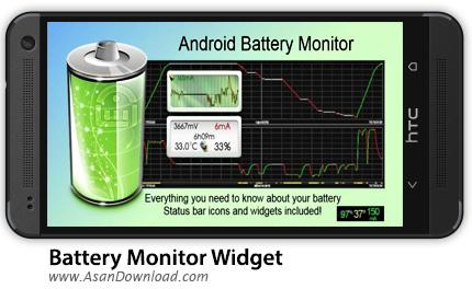 دانلود Battery Monitor Widget Pro v3.4.1 - نرم افزار موبایل مدیریت عملکرد باتری