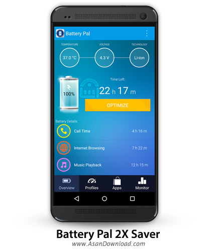دانلود Battery Pal 2X Saver v1.5 - اپلیکیشن موبایل بهینه ساز باتری اندروید