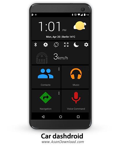 دانلود Car dashdroid-Car infotainment v2.9.1 - نرم افزار موبایل داشبورد اتومبیل