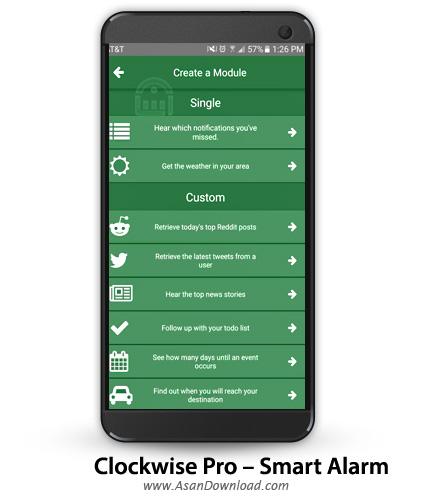 دانلود Clockwise Pro - Smart Alarm v1.0.10 - نرم افزار موبایل آلارم بیداری