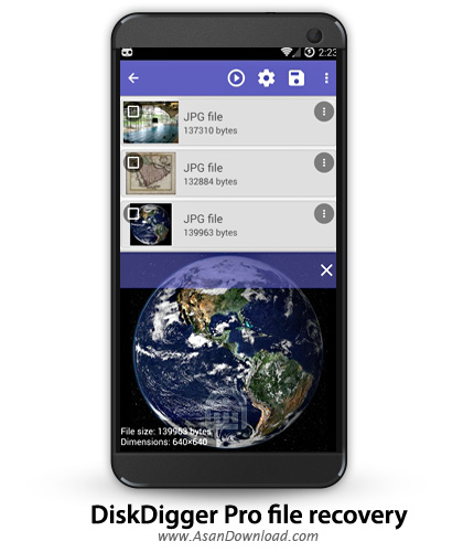 دانلود DiskDigger Pro file recovery v1.0 - نرم افزار موبایل ریکاوری فایل ها