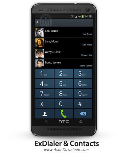 دانلود ExDialer & Contacts v190 - نرم افزار موبایل شماره گیر هوشمند اندروید