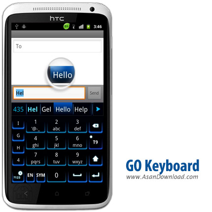 دانلود GO Keyboard v2.25 - کیبورد کامل و فارسی گو کیبورد اندروید